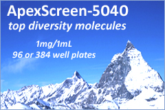 ApexScreen is a collection of 5,040 compounds that were selected to represent the diversity of TimTec stock